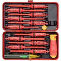 7 pièces Silverline 928227 VDE Isolé Poignée Souple Électriciens tournevis Set
