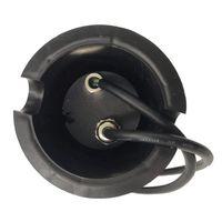 Spot encastrable LED SMD VEGAS Inox 316L 12V Rond (montage en série avec 2 presses étoupe) FROST 2W IP67 Bleu HIPOW