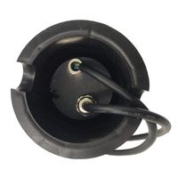 Spot encastrable LED SMD VEGAS Inox 316L 12V Carré (montage en série avec 2 presses étoupe) FROST 2W IP67 Bleu HIPOW