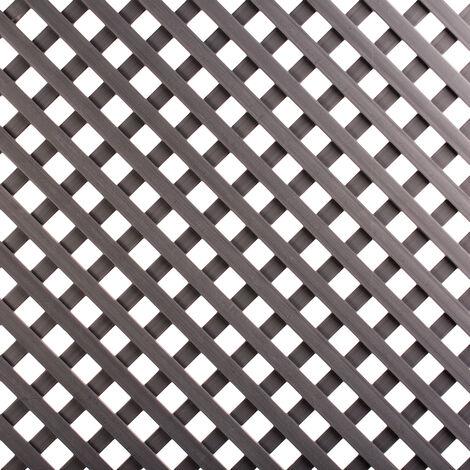 CELOSÍA FIJA PVC MARRÓN 18 MM Marron 18 MM, 0.80 X 1.2M