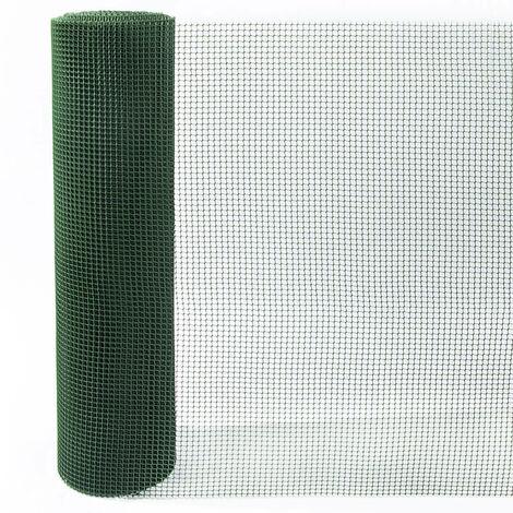 ROLLO MALLA PLASTICA CUADRADA VERDE Verde 1 X 5M, CUADRO 1CM