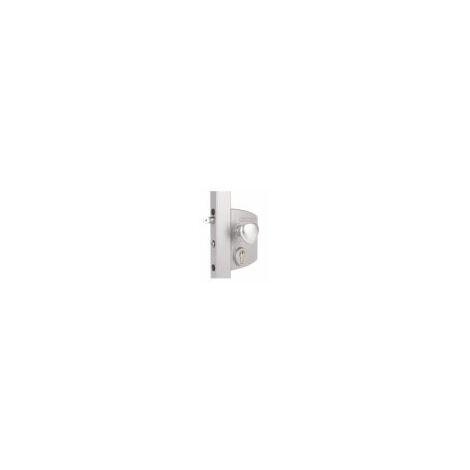 Serrure électrique avec fonctionnement à émission pour profils carré de 60 à 80mm,poignée ronde en alu. - LIKQ6060U2LZILV.