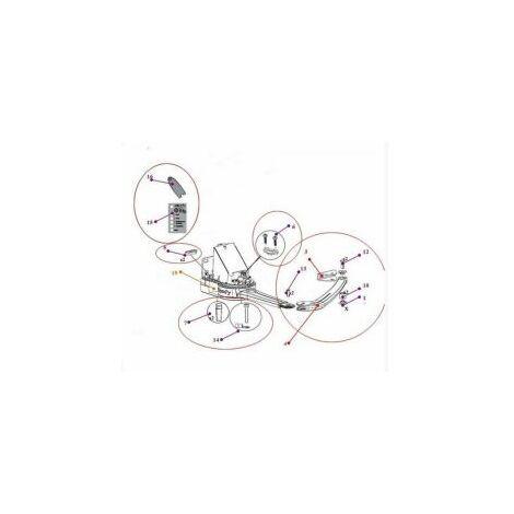 Kit demi-bras+patte vantail+accessoires pr EVOLVIA 400 / 450 et PASSEO 800 SOMFY - 9015541.