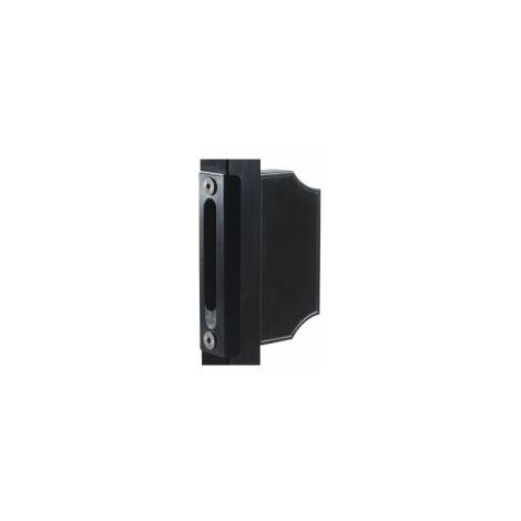 Gâche avec contre boîtier décoratif, profil carré 40mm. - LOCINOX - - SPKZTK40.