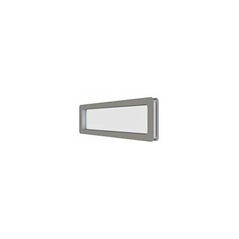 Hublot Rectangulaire en acier inoxydable 137 x 547 mm pour panel 40 mm - 840314.