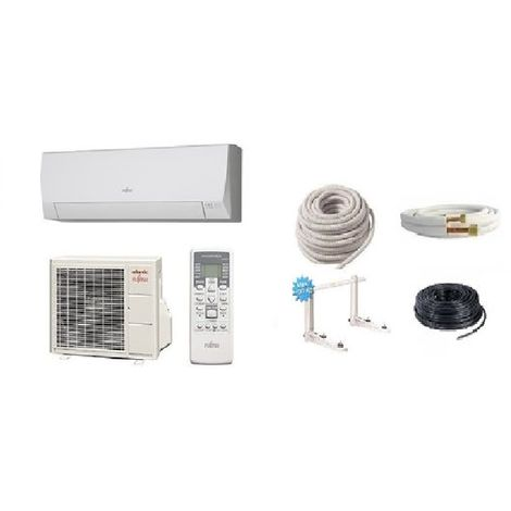 Pack climatisation ATLANTIC ASYG 12 LLCE 3.4 KW + Kit de pose 7 mètres + support + MISE EN SERVICE INCLUSE
