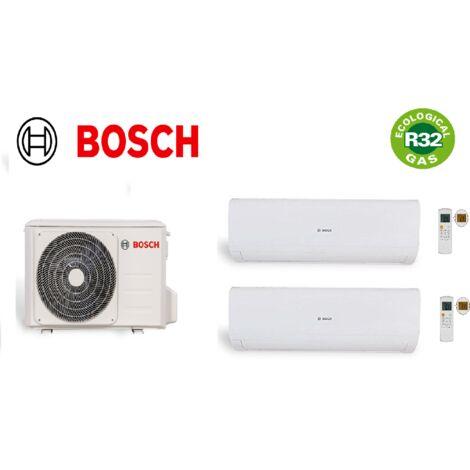 Pack climatisation unité extérieure bi split BOSCH 5200W + 1 unités intérieure 2 KW + 1 unité intérieure 3,5KW R32