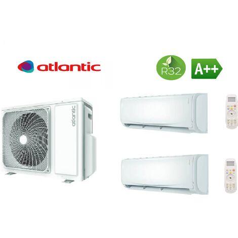 Pack climatisation bi split ATLANTIC 4,8 KW + 2 unités intérieures réversibles 2 kW DOJO R32