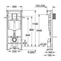 PACK COMPLET WC SUSPENDU BATI GROHE SL AUTOPORTANT + PLAQUE CHROME + CUVETTE DURAVIT D-CODE + ABATTANT DURAVIT D-CODE