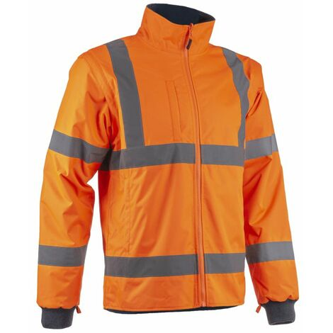 KAZAN VESTE HAUTE VISIBILITE 2 EN 1 Orange/marine - T. L - Coverguard