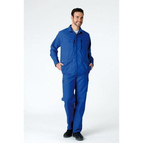 JARNIOUX PLUS Blouson de travail multipoches coton/poly Bleu bugatti - T. 6 - MDH