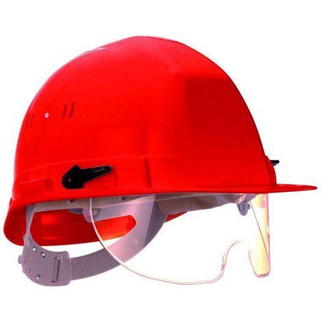 Lot 6 casques de chantier avec lunettes intégrées OCEANIC Rouge - T. TU - Coverguard