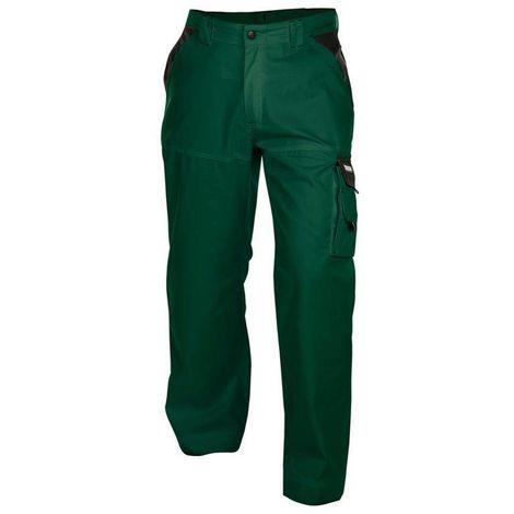 NASHVILLE pantalon de jardinier VERT/NOIR - T. 66 - Dassy