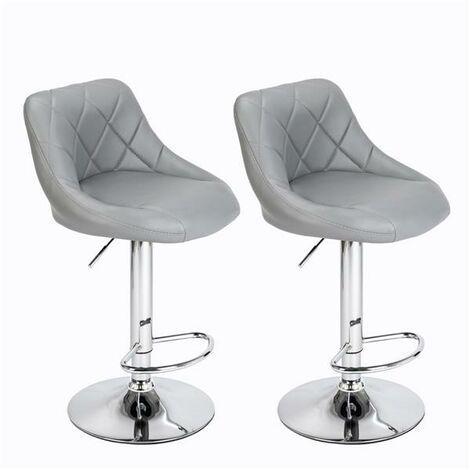 2 bar stools breakfast bar stools, kitchen stools, kitchen bar stools - Grey