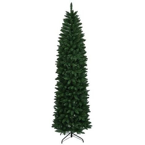 8FT/240cm Pointed PVC Pen Holder Christmas Artificial Tree Xmas Gift Decoration