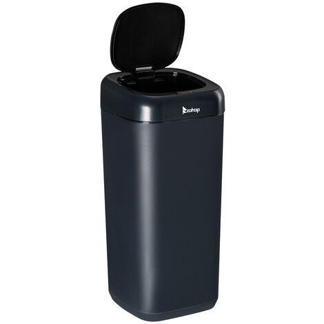 35L Stainless Automatic Sensor Dustbin Waste Bin Kitchen Steel Trash Can-Dark Blue
