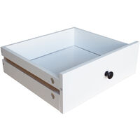 3 Drawers Bedside Table Nightstand Cabinet Home Bedroom Storage White Modern