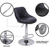 2 bar stools breakfast bar stools, kitchen stools, kitchen bar stools - Black