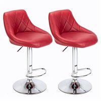 2 bar stools breakfast bar stools, kitchen stools, kitchen bar stools - Wine red