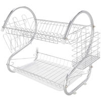 Kitchen Dish Cup Drying Rack Drainer Dryer Tray Cutlery Holder Organizer