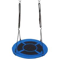 "40"" Kids Outdoor Round Net Hanging Rope Nest Tree Swing Children Patio Toys 100kg Capacity"