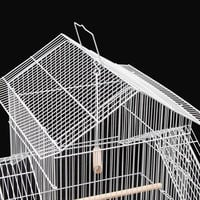 """39"""" Bird Cage Parrot Canary Large Cockatiel House with Toys - White"""
