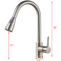 Copper Stainless Steel Kitchen Mixer Tap Dual Spout with Pull Out Spray