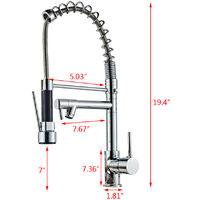 All Copper Kitchen Spring Double Outlet Faucet