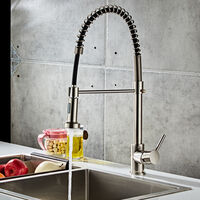Pull-down Kitchen Faucet-Brushed Nylon Water Pipe