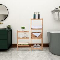 Bamboo Bathroom Rack, Multi-Functional And Removable 7-Layer Shelf, Multi - Function 72 * 43.5 * 160.7cm-Natural
