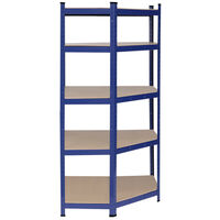Heavy Duty Blue Metal Garage Shelving Unit Shed Storage Shelves Boltless Shelf Rack