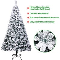 7ft 213cm Artificial Xmas Trees Christmas Tree Pvc Flocking 1300 Branches with Stand