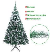 7FT 213cm Artificial Xmas Trees Spray White PVC Christmas Tree 870 Branches