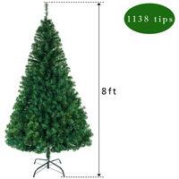 8FT 243cm Artificial Xmas Trees PVC Christmas Tree 1138 Branches