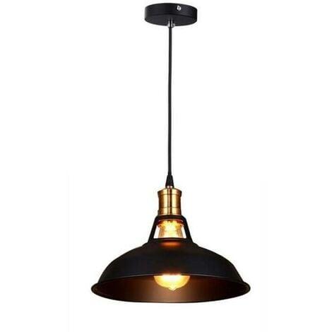 Lustre Suspension Industrielle Vintage E27 Lampe Plafonniers Retro Abat-jour pour Cuisine Salle à manger Salon Chambre Restaurant