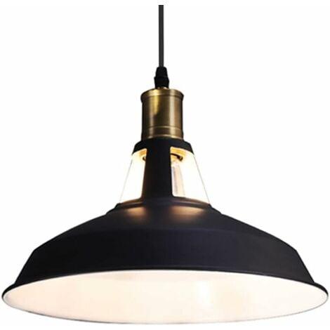 E27 Vintage Industriel Cage Lampe Ampoule Abat-jour Pendentif Lustre Rétro Noir