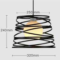 Lustre Suspension industrielle Métal Rétro vintage Ø 32cm - Noir