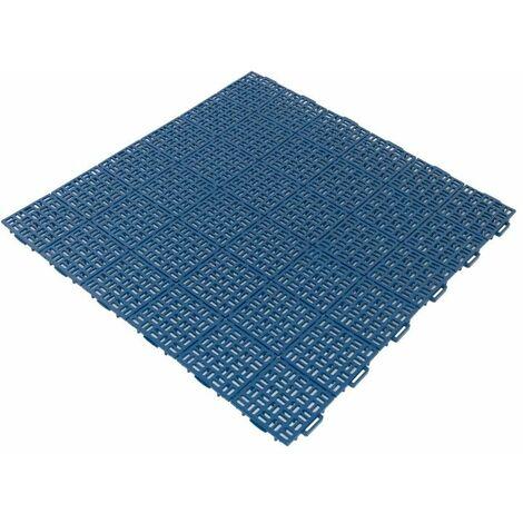 Dalle clipsable Jardin/Piscine en PP - Bleu 56 x 56 cm - Bleu
