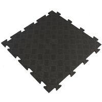 Dalle clipsable en PVC (finition métal) - Noir 50 x 50 cm - Noir