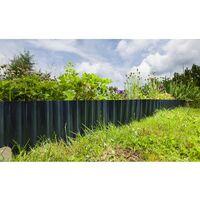 Bordure de jardin plastique ondulé - 9 m - Vert Foncé - Vert Foncé