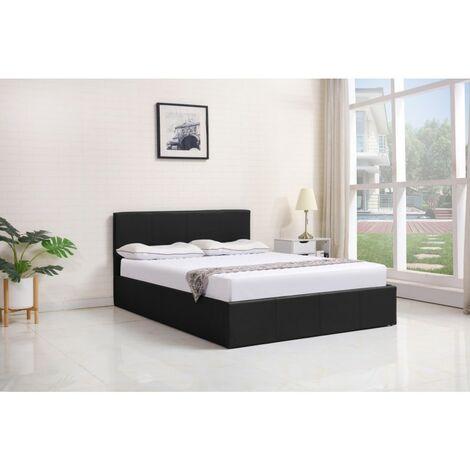 KOSY KOALA Ottoman Storage Bed Side Lift Opening (Black, 3FT SINGLE BED FRAME)