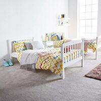 KOSY KOALA HEAVY DUTY WHITE WOOD BUNK BED WITH 2 MATTRESSES 3FT SINGLE BUNKBED SPLIT INTO 2 SINGLE FOR KIDS CHILDREN ADULTS