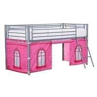 COSY STARS METAL KIDS CHILDREN MID SLEEPER CABIN BUNK BED WITH FUN CASTLE PLAYFUL TENT