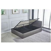 Grey Ottoman Storage Bed Side Lift Opening (Grey, 4FT SMALL DOUBLE)