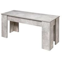 Kosy Koala Modern Wooden Stone Grey Dining Table and 2 benches