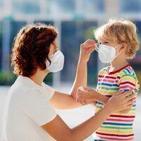 10 Masques de protection respiratoire Medisana RM100 de type FFP2/KN95 - blanc