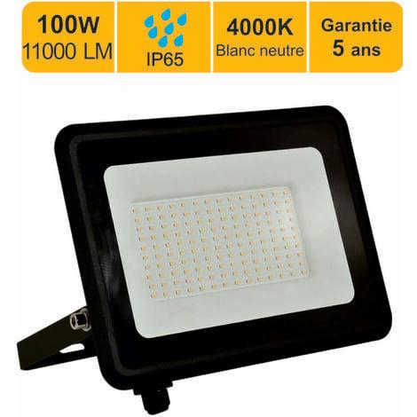 Projecteur LED 100W 8000 LM 4000K IP65 connexion en direct - garantie 5 ans