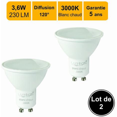 Lot de 2 ampoules LED GU103W (equiv. 30W) 230Lm 3000K - garantie  5 ans