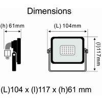 Projecteur LED 10W 850 LM 3000K IP65- garantie 5 ans - Connexion en direct