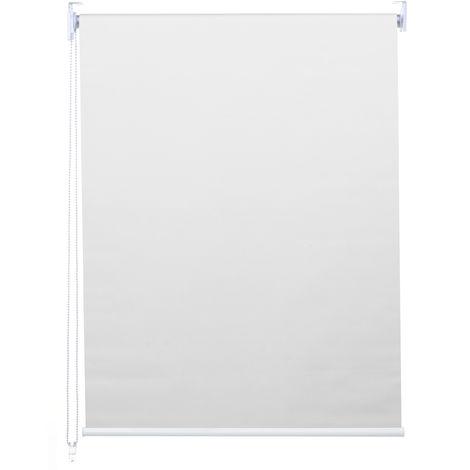 Store à enrouleur pour fenêtres, HHG-459, avec chaîne, avec perçage, isolation, opaque, 110 x 230 ~ blanc